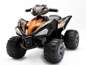 Kids QUAD ATV 4 Wheeler Ride On Power 2 Motors 12V Traction Wheels Black