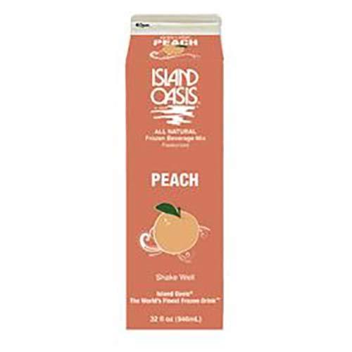 Island Oasis Peach Beverage Mix, 32 Fluid Ounce -- 12 per case.