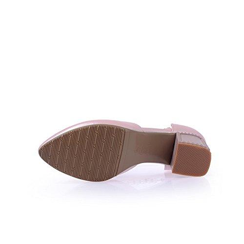 BalaMasa da donna vuoto perlina fibbia a punta kitten-heels gomma pumps-shoes, Rosa (Pink), 38