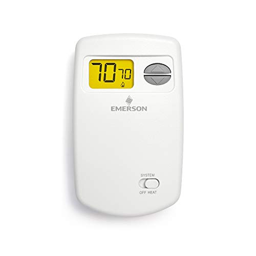(Emerson 1E78-140 Non-Programmable Heat Only Thermostat for Single-Stage Systems)