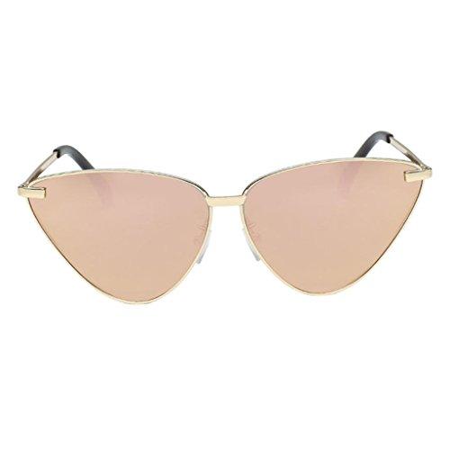 Cadeau Lunettes color de Soleil UV Homme Lentille Mirroir Protection 5 Mode Femme Baoblaze xOTw1qdC0T