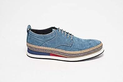 Konfidenz Blue Lace Up Shoes For Men