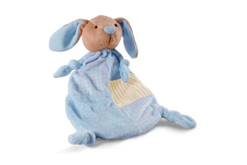 Schnuffel-Hase blau, mit 0,8 Liter Gummi-Wärmflasche