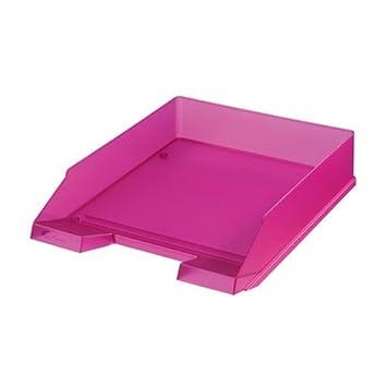 Herlitz 10590750 - Bandeja de escritorio (Translúcido, Violeta, De plástico)
