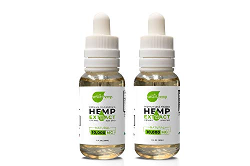 (2 Pack) 20,000mg Smart Hemp Oil Tinctures Extract for Sleep, Pain, Skin & Stress Relief 100% All Natural Hemp Drops…