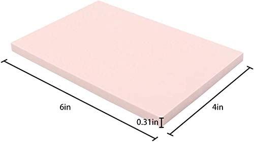 Soft and Easy to Carve ZHIHU 8 Pcs 4x6 Rubber Carving Blocks for Stamp Soft Rubber Crafts Pink