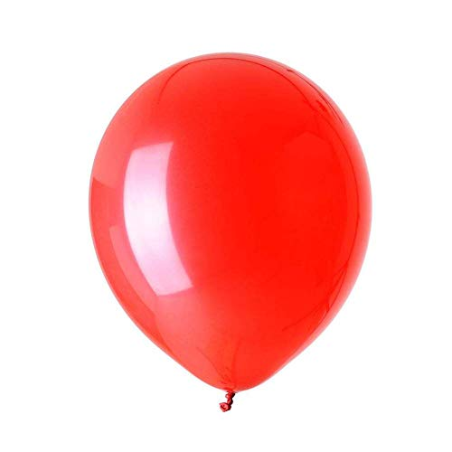 Pack of 100 Red Latex Balloons for Party Wedding Theme Decoration Arch Supplies, 10 Inch