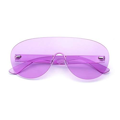 Soleil Couleur soleil de Lunettes de Style B personnalité Harajuku lunettes siamoises Femme Des Style C Grand rétro de modèle Sport 0TqE1