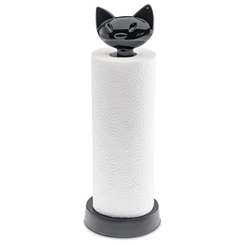 koziol MIAOU Paper Towel Stand, solid Cosmos Black