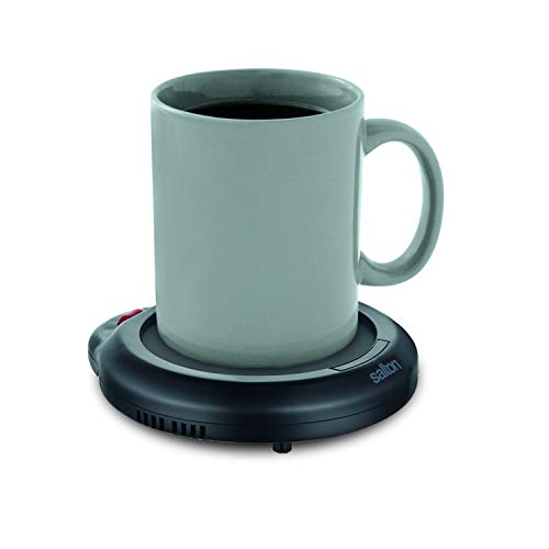 Salton Coffee Mug & Tea Cup Warmer for Office Desk Use, Electric Beverage Warmer with Automatic Temperature Control, Perfect for Warming Candle Wax No Flame Warming, Black (SMW12BK)