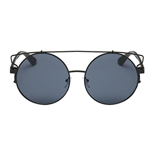 Winwintom Mujeres Hombres Vintage Retro Moda Aviator Espejo lente gafas de sol gafas Unisex