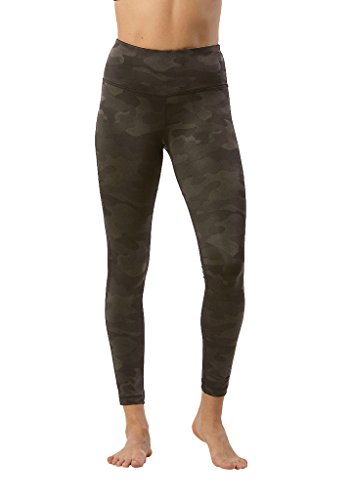 90 Degree by Reflex - Performance Activewear - Printed Yoga Leggings - Etched Camo Olive - XS (Etched)