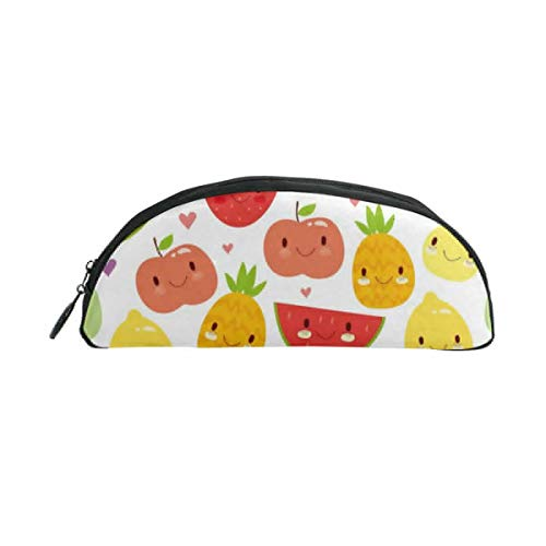 HengZhe Pencil Case Fruits Cartoon Face Pen Bag Cosmetic Pouch Students Stationery Holder Office Organizer]()