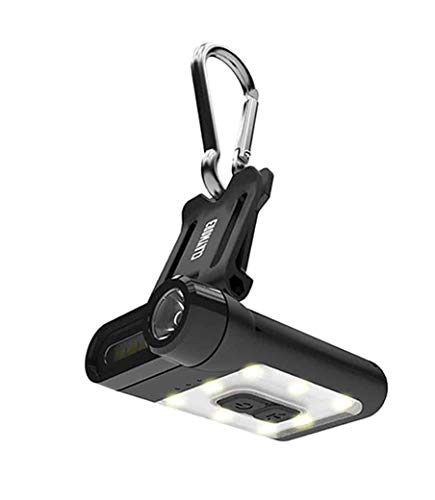 Claymore Capon 65A - Ultra-Lightweight Rechargeable LED Hands Free Clip On Light, 3 Lighting Modes/Warm Yellow, 230 Lumens, 650mAh, 36g, Portable Light for Camping Fishing Running and More [Black]