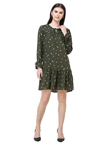 DECHEN Women's Full Sleeve Drop Waist Dress