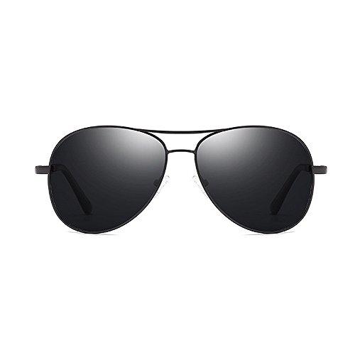 Yxsd UV Polarisés 400 Soleil Black Hommes de aviateur Couleur Protection Lunettes Cadre de de Or en par Métal Or1OXwq