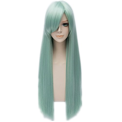 Seven Deadly Sins Halloween Costumes - MSHUI The Seven Deadly Sins Elizabeth Liones Anime Cosplay Wig Light Green Hair