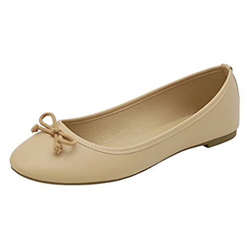 AgeeMi Shoes Femme Luccichio Chaussures à Plat With Bowknot