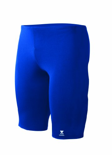 TYR Men's Durafast Elite Solid Jammer Swim Suit (Royal, - Jammers Blue Royal