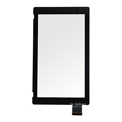 lenboes Front Outer Lens LCD Touch Screen Digitizer Replacement Part (NO LCD Screen) with Opening Tool for Nintendo Switch NS 2017