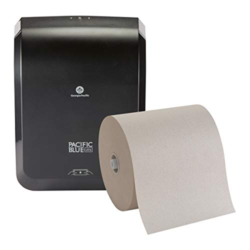 Pacific Blue Ultra Mechanical Paper Towel Dispenser Starter Kit by GP PRO (Georgia-Pacific), Black, 59530, [Contains 1 Dispenser (59589) and 1 Paper Towel Roll (26496)]