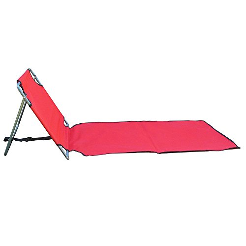 Acko Red Portable Folding Lounge Chair Great For Beach