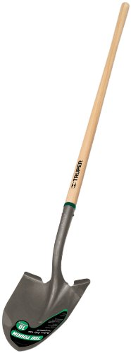 Point Shovel Wood Handle - Truper 33037 Tru Tough Round Point Shovel with 48