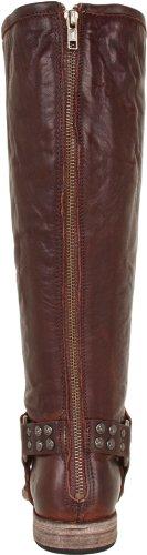Frye Kvinna Phillip Dubbade Sele Tall Boot Mörkbrun Mjuk Vintage Läder