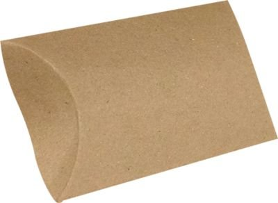 Small Pillow Boxes - Small Pillow Boxes (2 x 3/4 x 3) - 18pt. Grocery Bag Brown (10 Qty.) | Perfect for Packaging Party Favors, Treats, Jewelry and Other Small Treats | SPB-GB-10