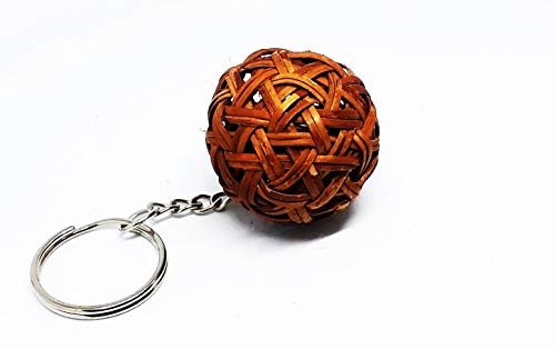 Mini Rattan Ball Sepak Takraw Keychains Keep Your