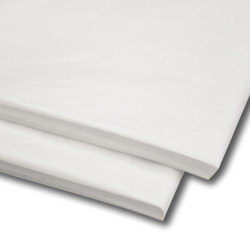 100 x Seidenpapier / Geschenkverpackung / Geschenkpapier Laken (50.8cm x 76.2cm) - Weiß