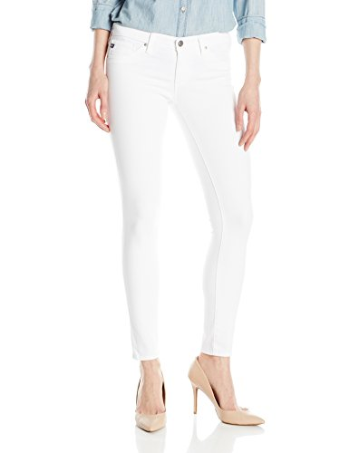 Ag Adriano Cotton Jeans - AG Adriano Goldschmied Women's Legging Ankle Super Skinny Jean, White, 28
