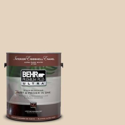 BEHR Premium Plus Ultra 1-Gal. #UL160-13 Wax Sculpture Interior Eggshell Enamel Paint