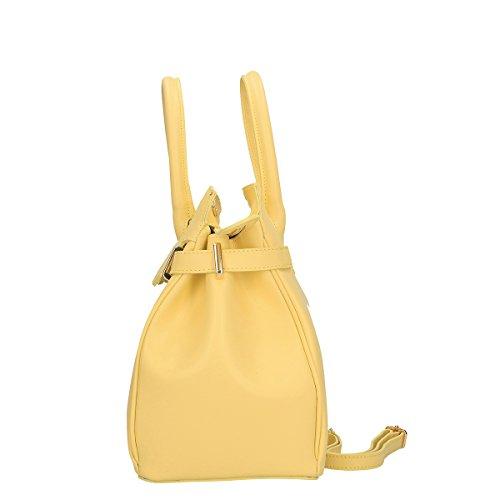 Chicca Borse Piel genuina hombro bolso 33x28x17 Cm amarillo