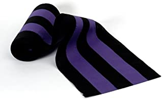 """product image for Independence Bunting Funeral Home Décor. 18"""" Wide Black/Purple/Black/Purple/Black Nylon Memorial Bunting. Sold by The Yard. Made in The USA! Funeral Decorations for That Special Loved One"""