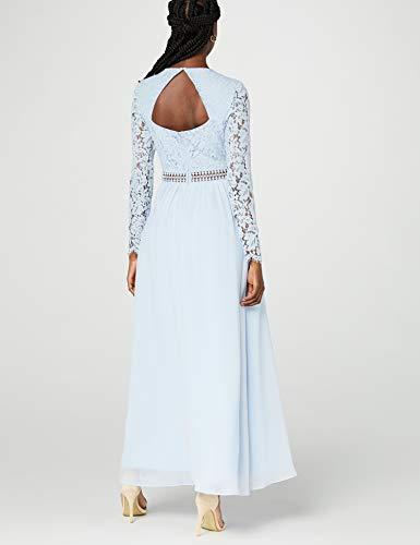 Vestido largo azul