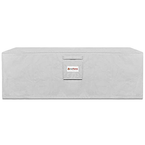 Real Flame A11812 Sedona Rectangle Propane Protective Cover, Light Gray by Real Flame