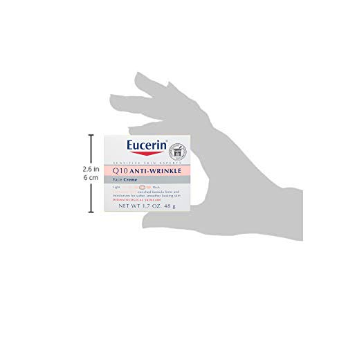 31P7u0qmJVL - Eucerin Q10 Anti-Wrinkle Face Cream - Fragrance Free, Moisturizes for Softer Smoother Skin - 1.7 Ounce (Pack of 1)