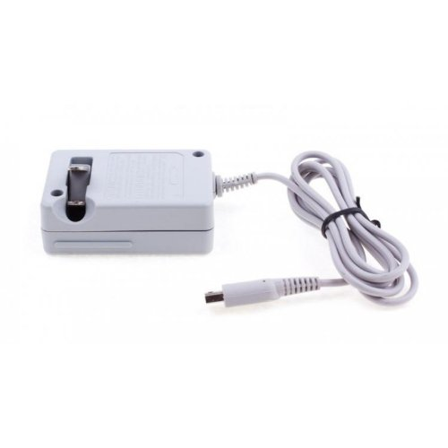 NEON Mains charger for Nintendo DSI XL / DSI / 3DS (US 2-pin plug)
