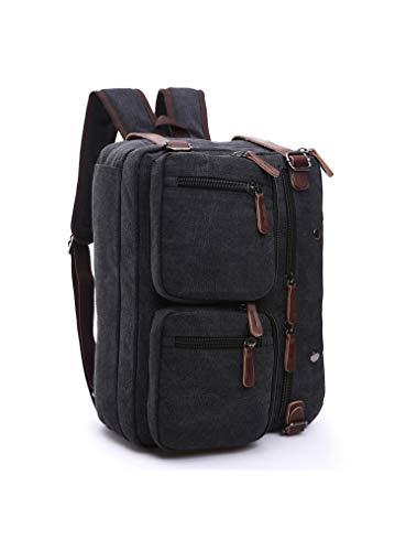 Price comparison product image Men 3 in 1 Laptop Backpack Briefcase Messenger Shoulder Bag for Lenovo Legion Y740 (15-in) / Legion Y7000 / ThinkPad P52 / Yoga Chromebook C630 / Acer Predator Triton 500 / Swift 5 15.6 (Black)