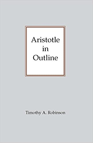 aristotle in outline robinson timothy a