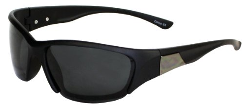 Polarized It's All Good Mars Sunglasses (Matte Black and Shiny Gun, Smoke - Sunglasses Mars