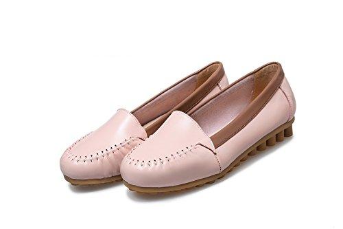 Retro Flats Chaussures SDC03697 Closure Fashion Womens Rose No AdeeSu Confort Plaid 7BRwaF