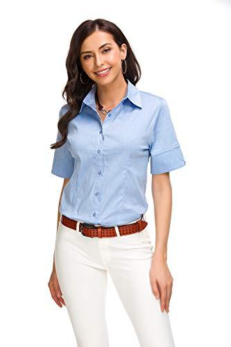light blue button blouse - 6