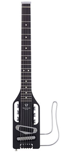 Traveler Guitar ULEL BLK Ultra-Light Electric Black Travel Guitar with Gig Bag, Black