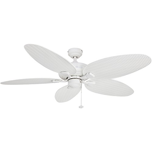 Honeywell Duvall 52-Inch Tropical Ceiling Fan, Five Wet Rated Wicker Blades, Indoor/Outdoor, ()