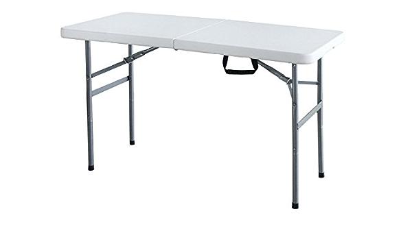 aleaci/ón de Aluminio Mesa Plegable Camping con 4 sillas Plegables 60 * 120 cm Altura Ajustable