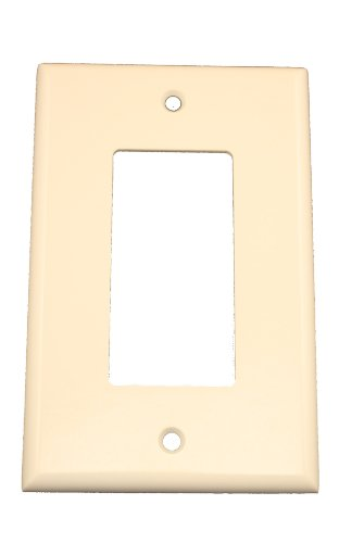 - Leviton 80601-T 1-Gang Decora/GFCI Device Wallplate, Midway Size, Thermoset, Device Mount, Light Almond