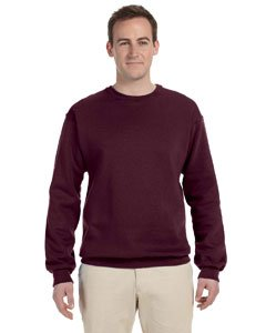(JERZEES - Crewneck Sweatshirt. 562M, LARGE, Maroon)