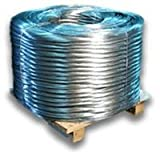 Baling Wire 16 foot long 12 Gauge 125 Piece Bundle Single Loop Galvanized